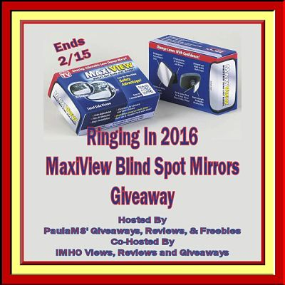 Enter Today! Ringing In 2016 #MaxiView Blind Spot Mirrors #Giveaway Ends 2/15