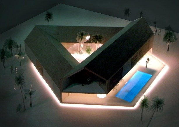 Triangular House top view