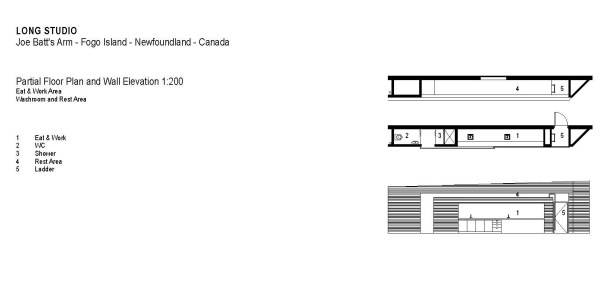 Partial floor plan and wall elevation