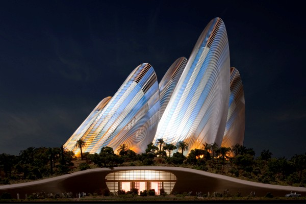 Zayed Museum at night