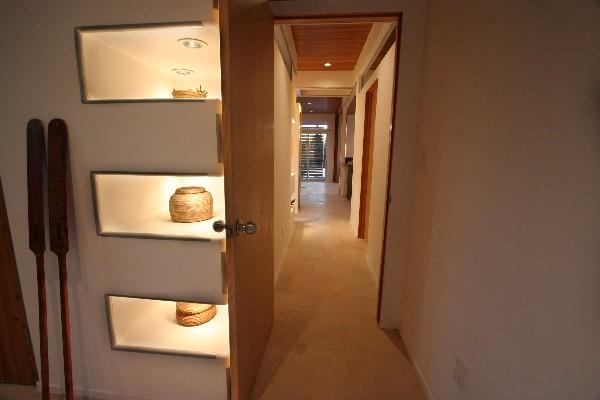 Built-in shelving