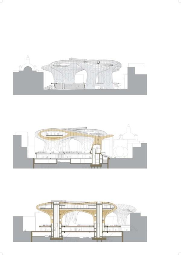 Plaza de la Encarnacion Sections