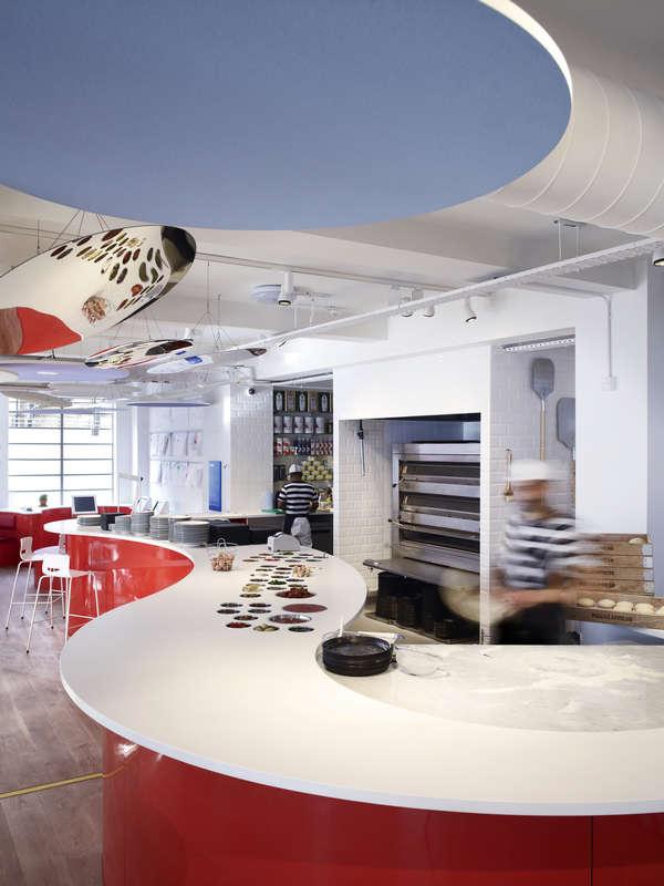 Interior view showing open plan kitchen - Photograph: John Short - Image   Ab Rogers Design