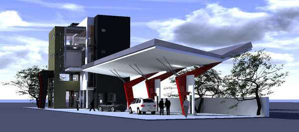 Filling Station And Motel In Ampara Sri Lanka By Damith