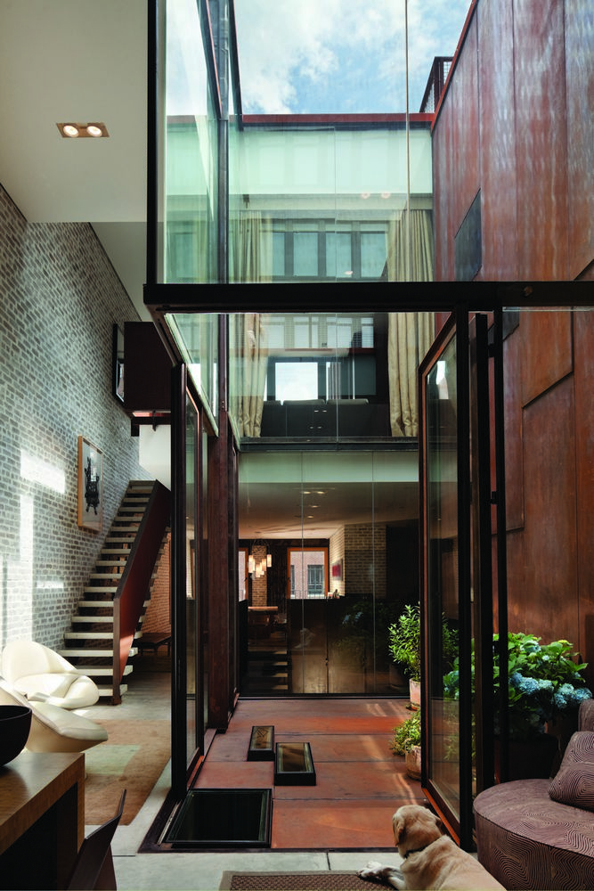 Inverted Warehouse Townhouse In Manhattan New York By