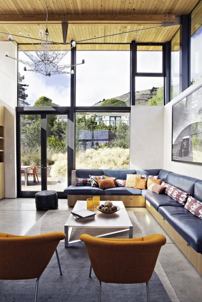 Living room Stinson Beach House ArchShowcase