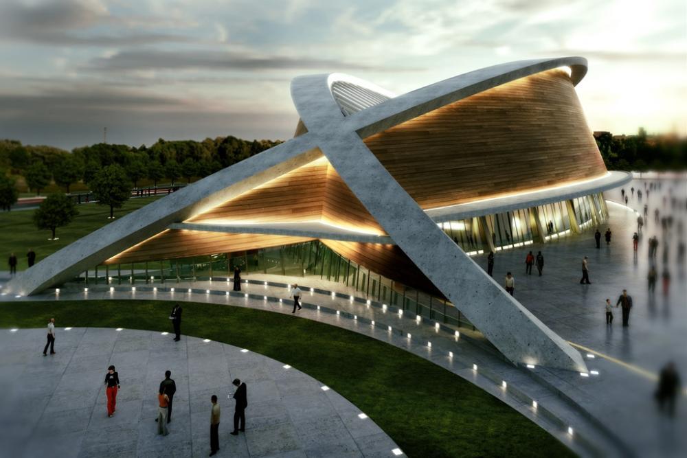 Olympic Swimming Pool 2013 olympic swimming pool in erbil, kurdistandos architects