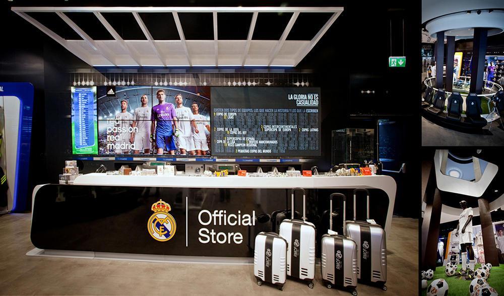38f97915f Image Courtesy © sanzpont  arquitectura . Architects  sanzpont   arquitectura   Project  Real Madrid Official Store  Location  Gran Via ...