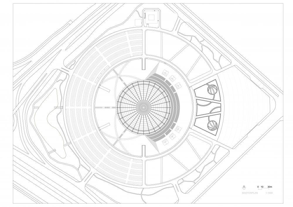 Basketball stadium in Dongguan, China by gmp · von Gerkan