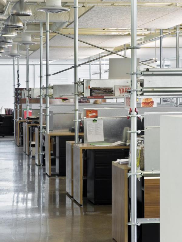 Saatchi Toronto scaffolding workstations
