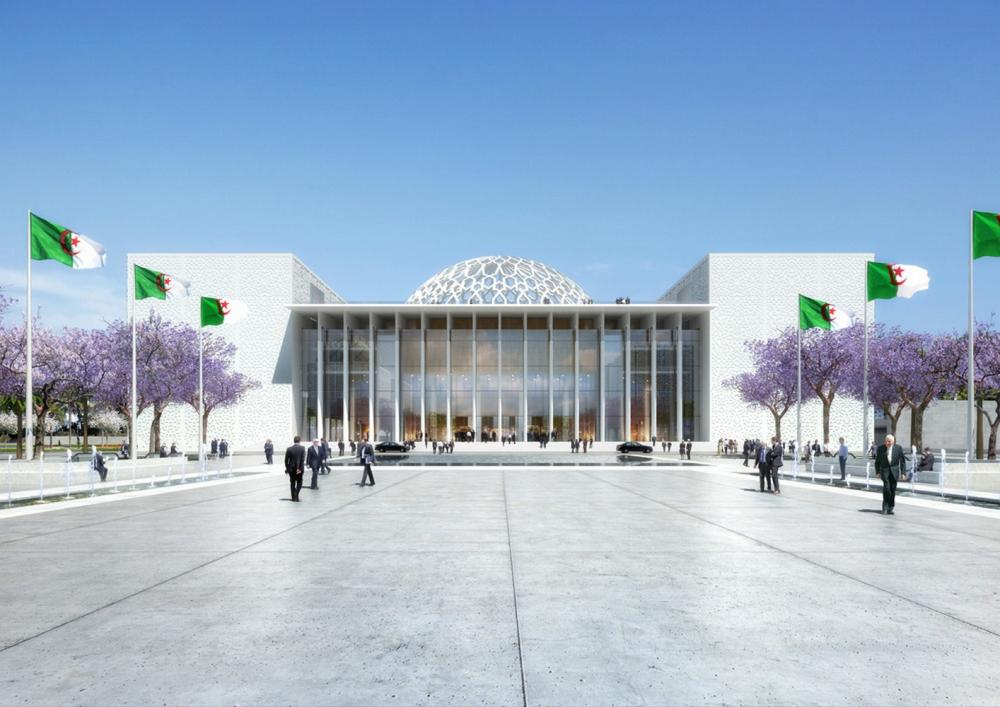 New algerian parliament in algiers algeria by bureau