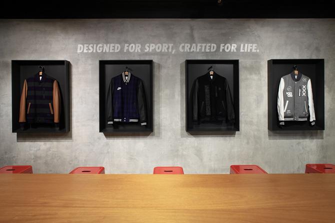 Showcase of Nike designed apparel, Image Courtesy © openUU ltd