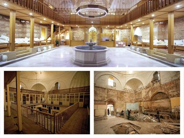 Camegah (frigidarium) After Restoration, Image Courtesy © Ergin Iren (old), Ahmet Ertug (new)
