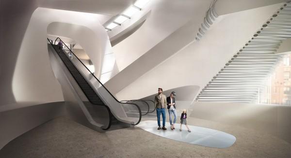 Atrium landing above SE entrance, Image Courtesy © PLUS-SUM Studio