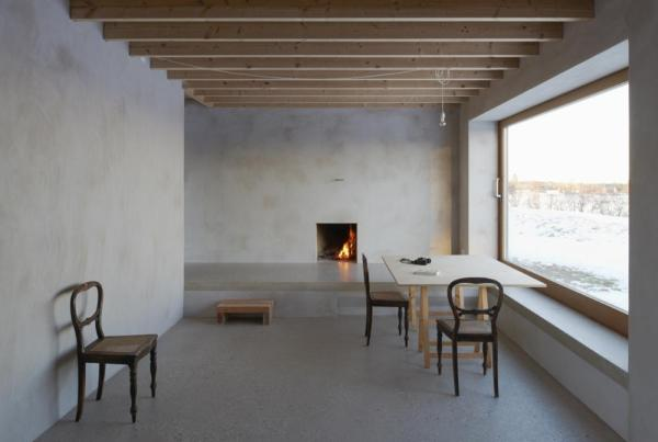 Dining room with fireplace, Image Courtesy © Åke E: son Lindman