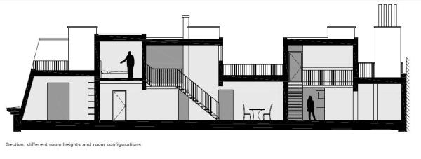 structure with cut-in terraces, Image Courtesy © PPAG architects