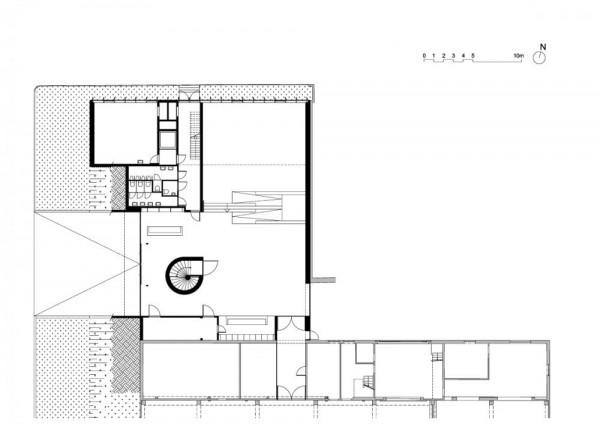 Plan – level 0, Image Courtesy © LABEL ARCHITECTURE