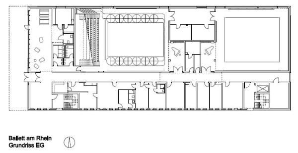 Floor plan first floor, Image Courtesy © gmp