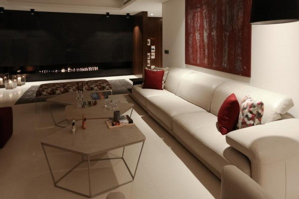 Living area view | Night view, Image Courtesy © RUDY BOU CHEBEL