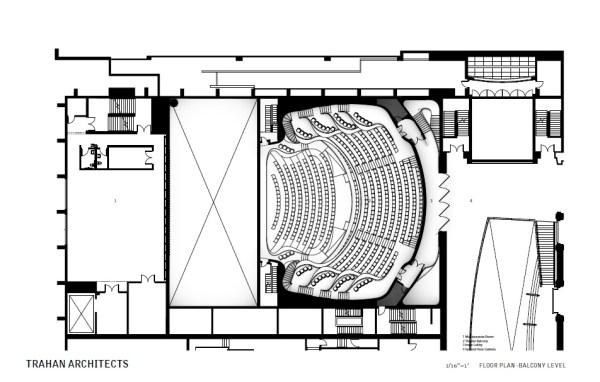 Floor Plan – Balcony Level, Image Courtesy © Trahan Architects