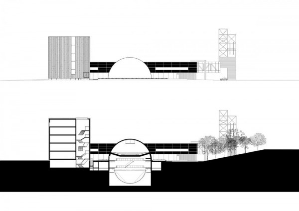 facade and section South, Image Courtesy © Shift Architecture