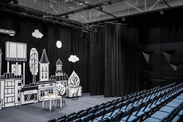 small theater hall, Image Courtesy © Tuomas Uusheimo