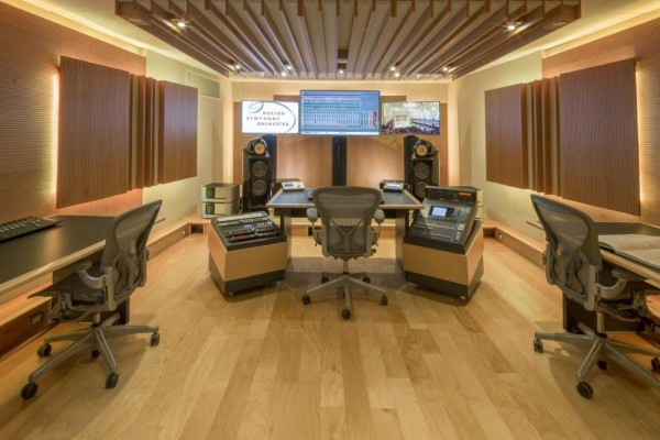 The Boston Symphony Orchestra Control Room has been redesigned by WSDG.  Please credit photo , Image Courtesy © Cheryl Fleming Photography