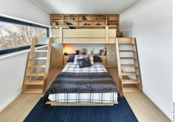 Kid's bedroom with custom bunkbed, Image Courtesy © Marc Cramer
