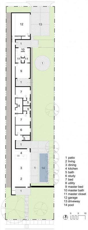 site / floor plan, Image Courtesy © Buchanan Architecture