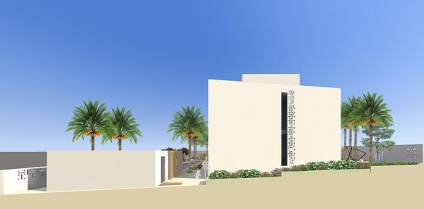 West Façade self-shaded envelope, Image Courtesy © Ark-Kassam Architects