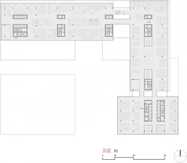 Floorplan level 5+6, Image Courtesy © gmp