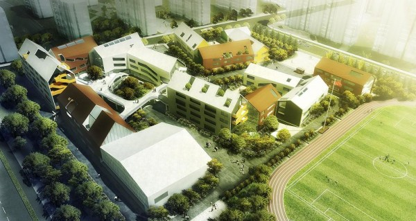 Aerial View, Image Courtesy © LYCS Architecture
