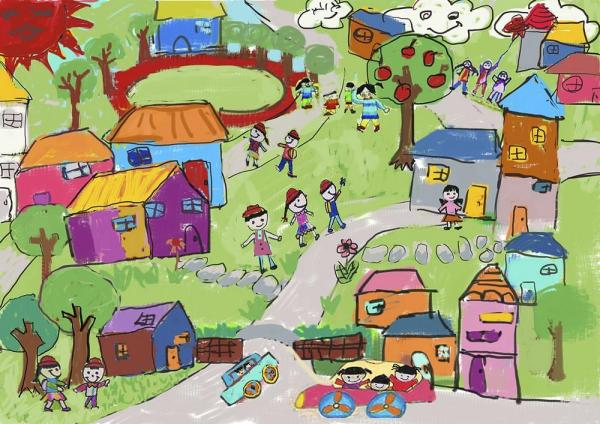 Concept_Child Drawing, Image Courtesy © LYCS Architecture
