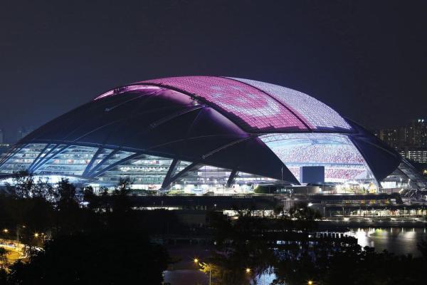 Singapore National Stadium, Image Courtesy © Arup Associates