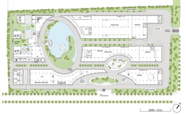 Ground Floor Plan, Image Courtesy © Hui Jun Wang, Yuan-Sheng Chen, Florian Pucher, Milan Svatek, Christian Junge