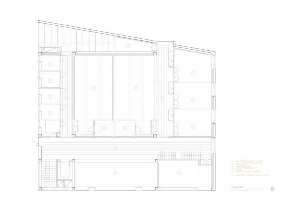 Centro cultural y escuela de m sica in madrid spain by for Restaurante escuela de arquitectos madrid