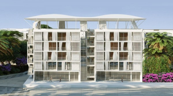 Social Housing Unit with Cultural Center on the ground floor and on the roof top, Image Courtesy © Abderhrrahman Ezzine