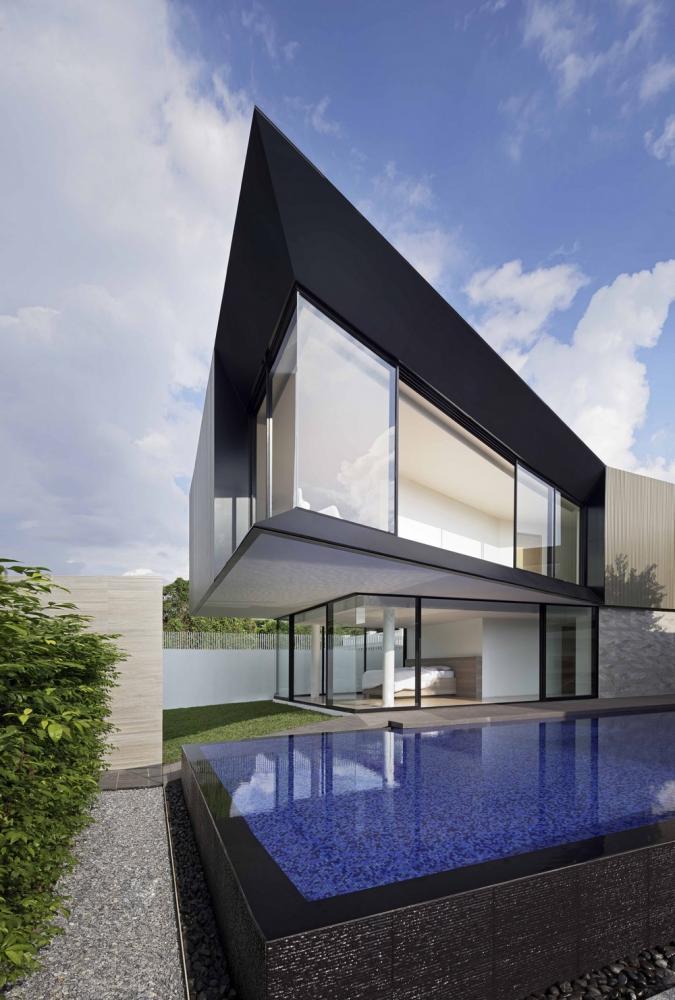 Aluminium House in Bangkok, Thailand by Ayutt and Associates