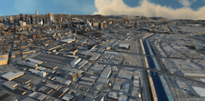 Data from terrain maps, aerial photographs, GIS data, building models & more used by a team at Autodesk to create a proof-of-concept 3D model of the City of Los Angeles. Image Courtesy of Autodesk.