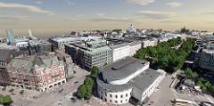Innovation in Reality Modeling Winner: City of Helsinki – Helsinki 3D+ – (Helsinki, Finland). Image Courtesy of Bentley Systems