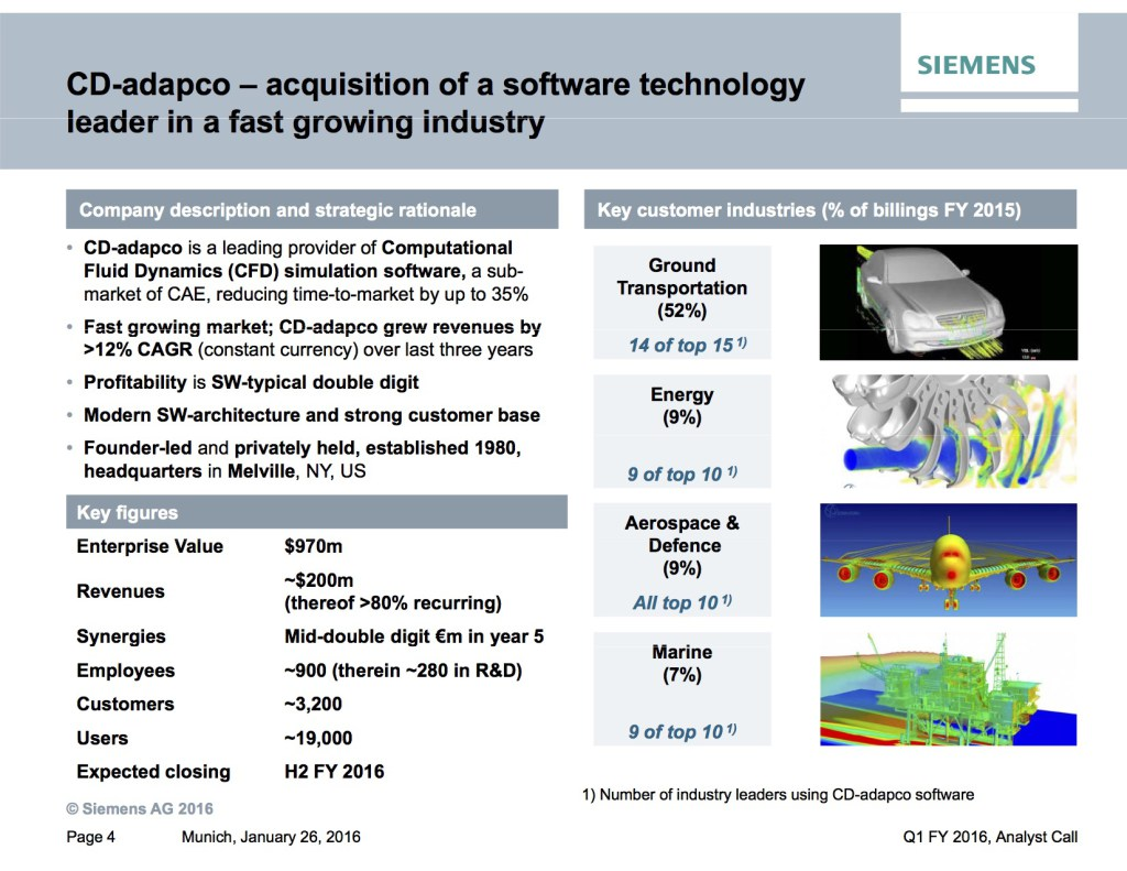 MCADCafe: Is CD-adapco A Good $1 Billion Fit For Siemens?