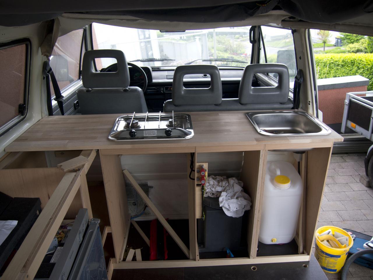 spacecamper classic der vw t6 camping ausbau t4 k che. Black Bedroom Furniture Sets. Home Design Ideas