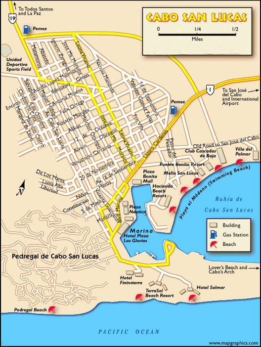 Maps Of Cabo San Lucas Hotels : lucas, hotels, Lucas, Cabos, Driving, Directions