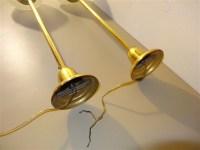 Long Brass Pendulum Light Fixtures Frosted Glass Globes   eBay