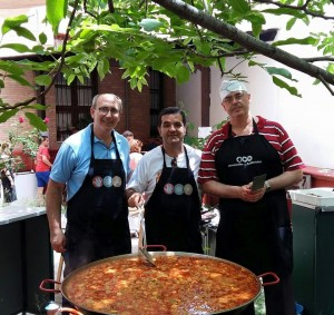 Cocineros en la Fiesta Solidaria