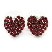 Burgundy Stud Earrings - avalaya.com