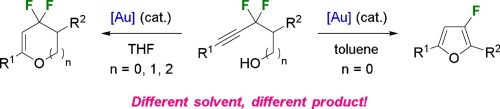 small resolution of hamel j d paquin j f au catalyzed intramolecular hydroalkoxylation of gem difluorinated alkynols journal of fluorine chemistry 2018 216 11 23