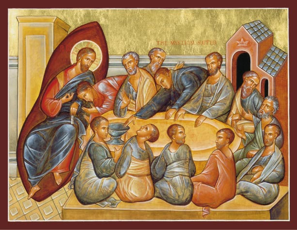 An Icon of the Mystical Supper