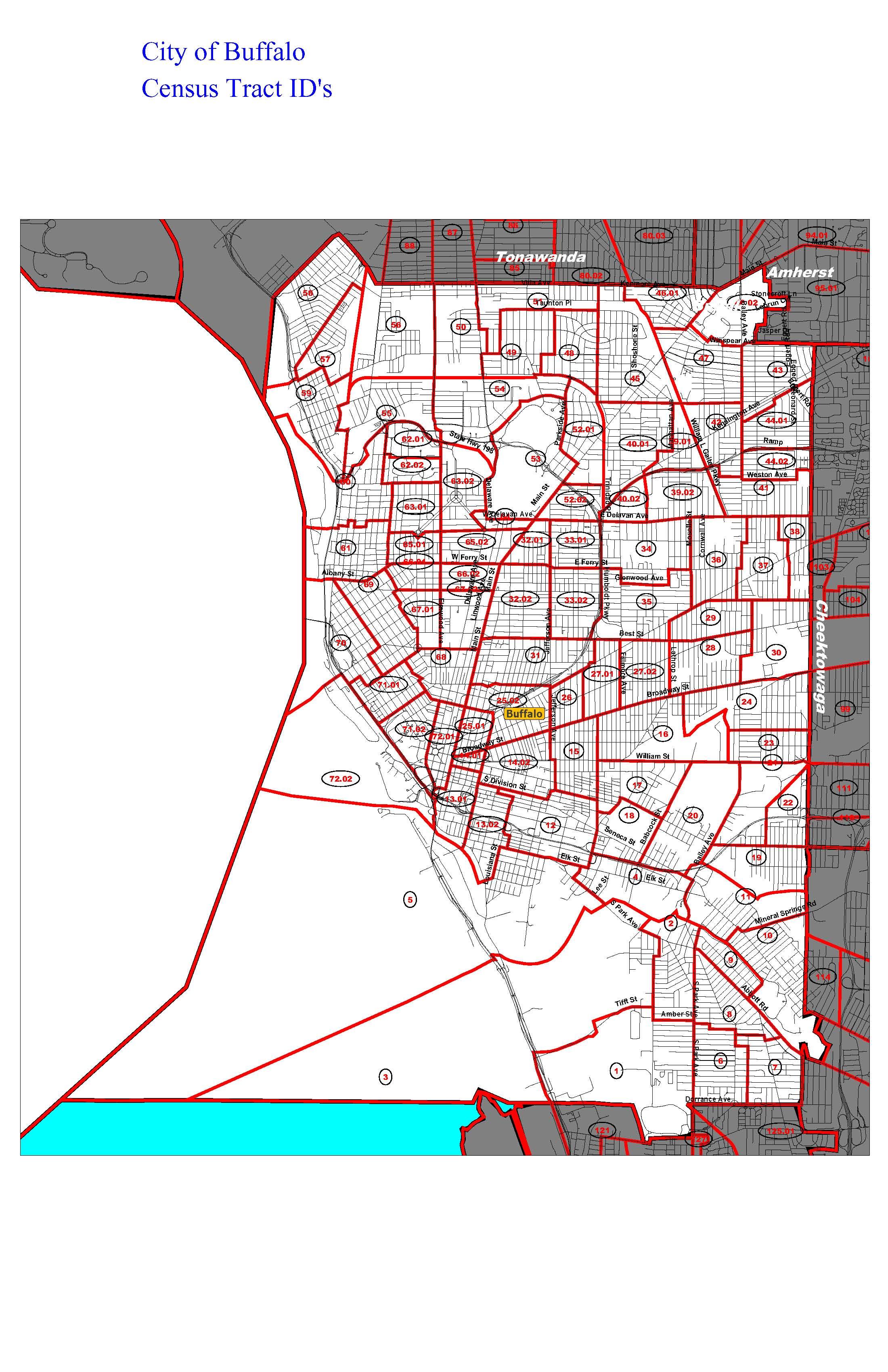Buffalo Zip Code Map : buffalo, Buffalo, Indicating, Census, Tracts, County, Legislature