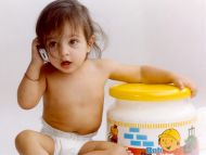Cute Baby Talking on Phone